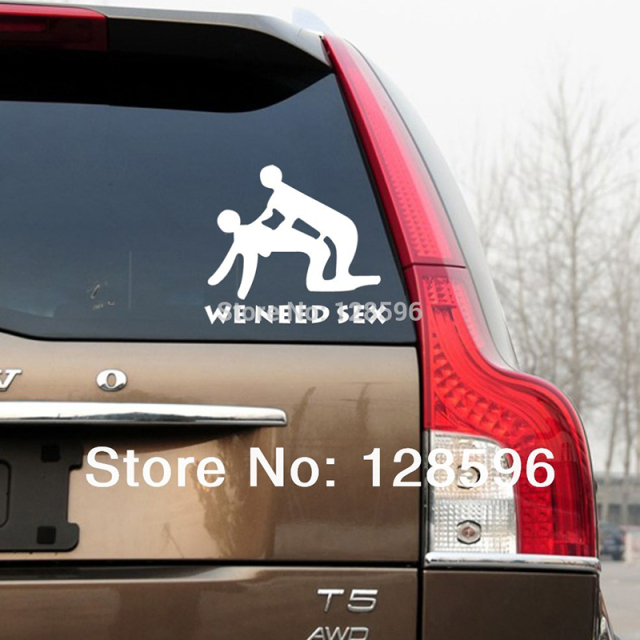 Hotmeini new we need sex stick figure vinyl decals funny car truck suv windows bumper stickers
