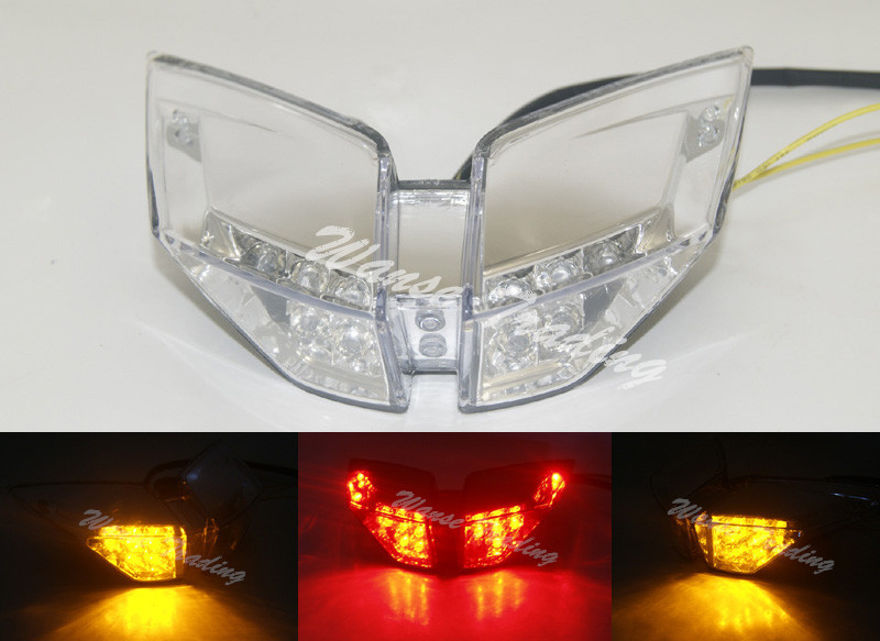 Taillight Tail Brake Turn Signals Integrated Led Light Clear For 2010 2011 2012 2013 2014 MV AGUSTA F4 1000R 1000RR F4R F4RR aftermarket free shipping motorcycle parts led tail brake light turn signals for 2008 2012 suzuki hayabusa gsx1300r clear
