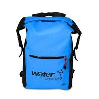 25L Outdoor Waterproof Swimming Bag Backpack Bucket Dry Sack Storage Bag Rafting Sports Kayaking Canoeing Travel