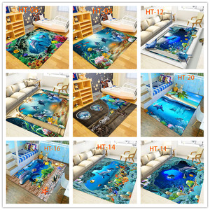 Błękitne morze ocean styl śródziemnomorski 3D dywany do salonu dywaniki do sypialni stolik Sofa łóżko mata podłogowa przedpokój dywan