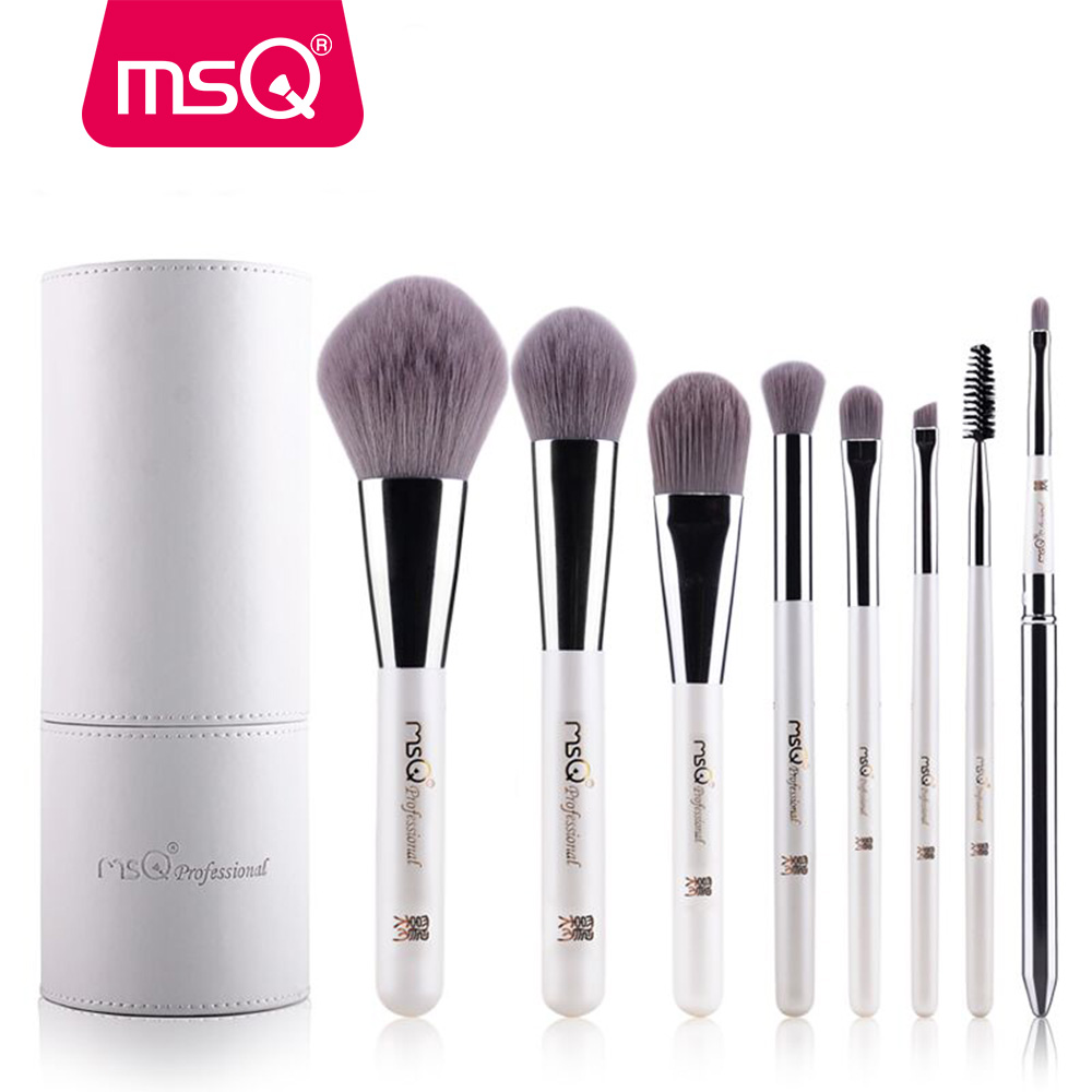 все цены на  MSQ Makeup Brushes Professional Zodiac Cosmetics Brush Set 8pcs High Quality Synthetic Hair With White Cylinder Brush Set  онлайн