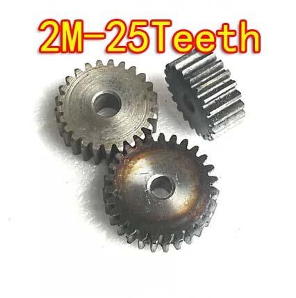 Diameter:54mm 2M-25Teeth Metal cylinder spur gear motor gear box.--hole d:10mm cylinder 2 5mm thread hole dia magnetic gear box motor dc24v 1000rpm