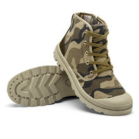 Plus Size 39 45 Spring Autumn Fashion Camouflage Lace Up High Top Sneakers Men Casual Canvas