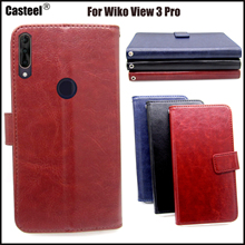 Casteel Classic Flight Series high quality PU skin leather case For Wiko View 3 Pro Case Cover Shield