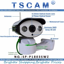 TSCAM new SP-P1803SWZ 1080P PTZ IP Camera Outdoor Wireless Full HD Pan/Tilt/Zoom 6-22mm Optical Zoom with Micro SD Slot ONVIF