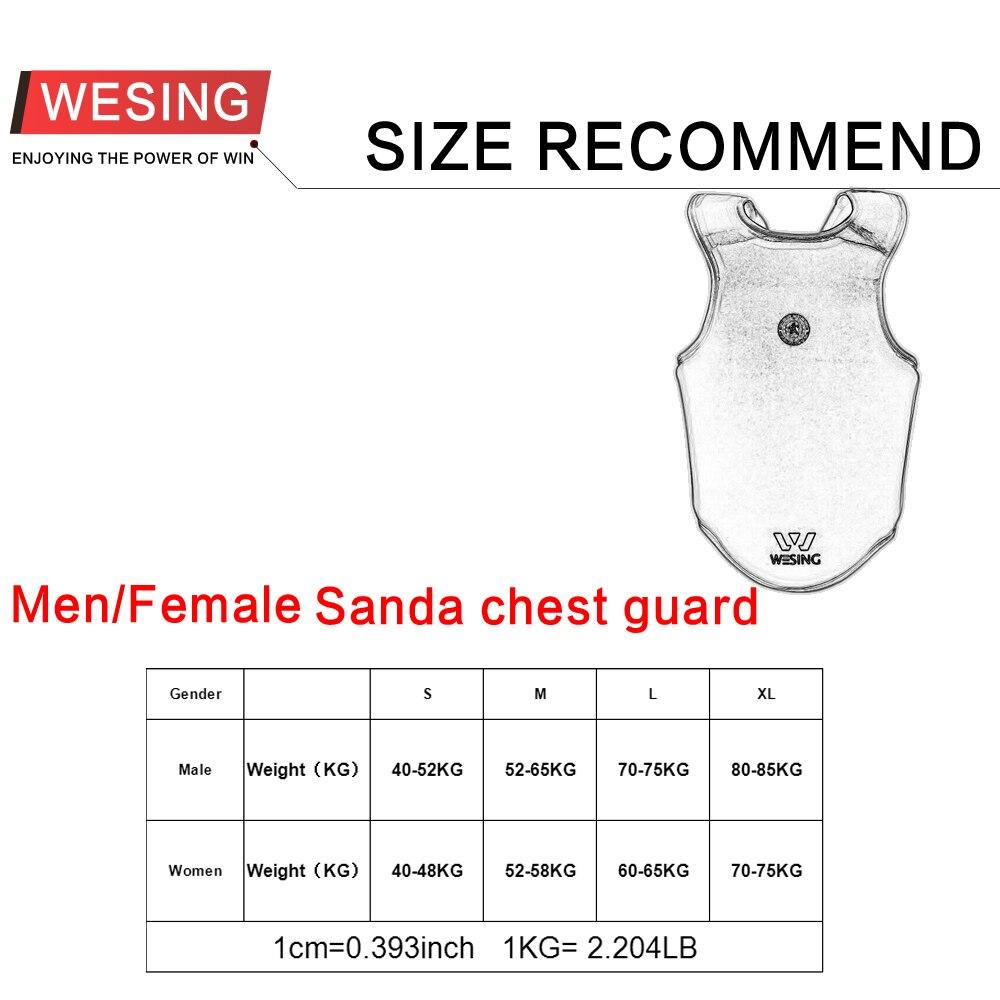 Wesing sanda brystvagt wushu sanshou kropsbeskytter kampsport - Sportsbeklædning og tilbehør - Foto 5