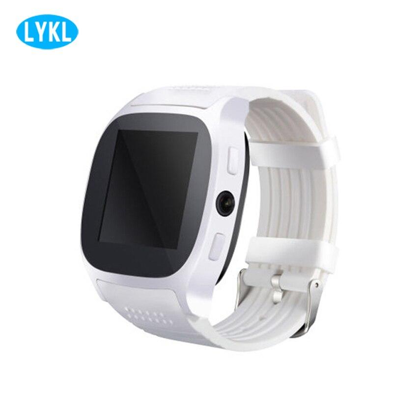 2018 ltkl t8 bluetooth relógio inteligente com câmera esportes relógio de pulso suporte sim tf cartão leitor música para android vs m26 dz09 a1