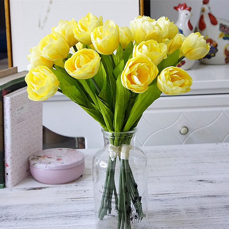 In 5 Pcs Artificial Fake Flowers Tulip Bouquet Floral Real Touch Flower Tulip For Home Wedding Bouquet Party Garden Decoration C39 Fashionable Style;