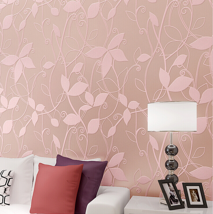 Modern Floral Leaf Background Wallpaper 3D Embossed Non woven ...