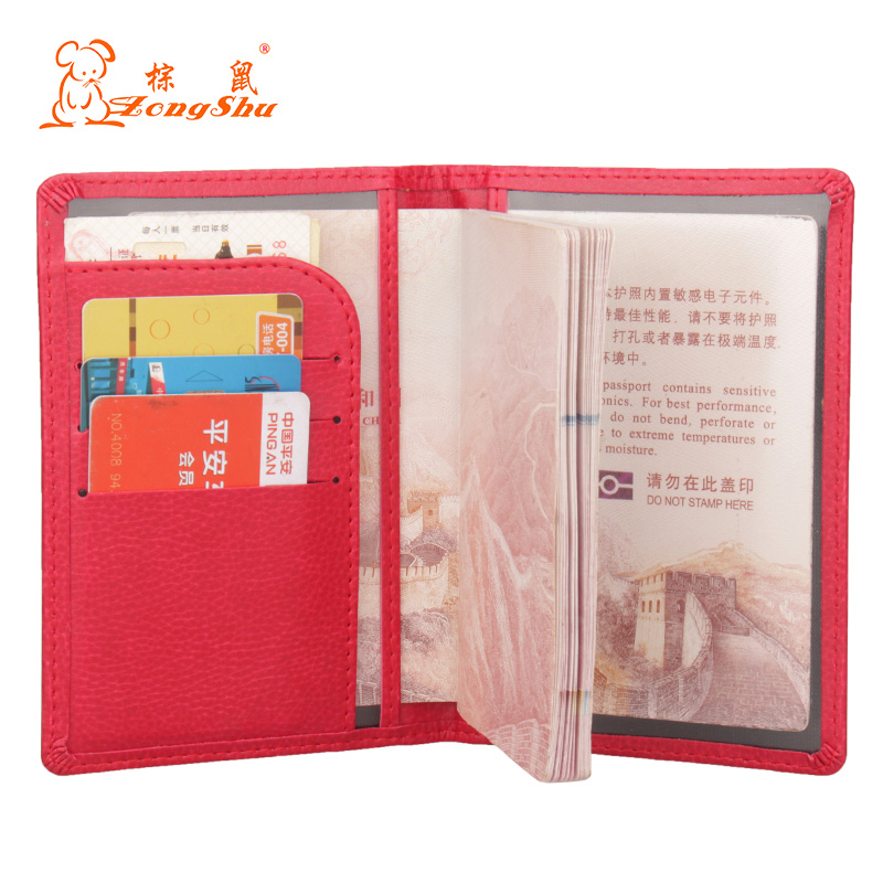 2020 hot PU Leather Wallet card holder for traveling documents, women's credit card holder for visiting cards(Custom available image