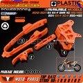 Orange Swingarm Цепи Слайдер комплект + ЧПУ Защитой Цепи Руководство + Тормозной Шланг Зажимом для KTM SX F SMR XC XCF 125 150 200 250 350 450 525