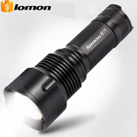 Zoomable LED Flashlight 26650 Rechargeable CREE L2 Torch White Yellow Blue Light 1600 Lumens Long Range Outdoors Portable Light