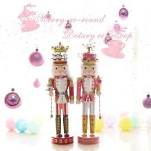 Новые 40 см высоком Рождество праздник «Щелкунчик» карусель Винтаж Пособия по немецкому языку деревянный стол орех игрушка ZAKKA Куклы