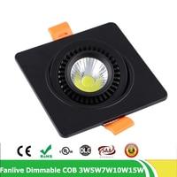 Verzonken Vierkante LED Dimbare Downlight COB 5 W 7 W 20 w 360 graden Passen LED Downlighters LED Decoratie Plafondlamp AC 110 V 220 V