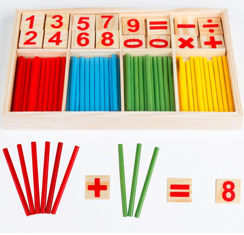 1set math toy many Color mathematical sticks Digital building blocks ...