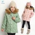 Девушка зимнее пальто нью-куртка хлопка с капюшоном зимнее пальто детская одежда зимнее пальто зимние куртки для девочки пальто 30 #