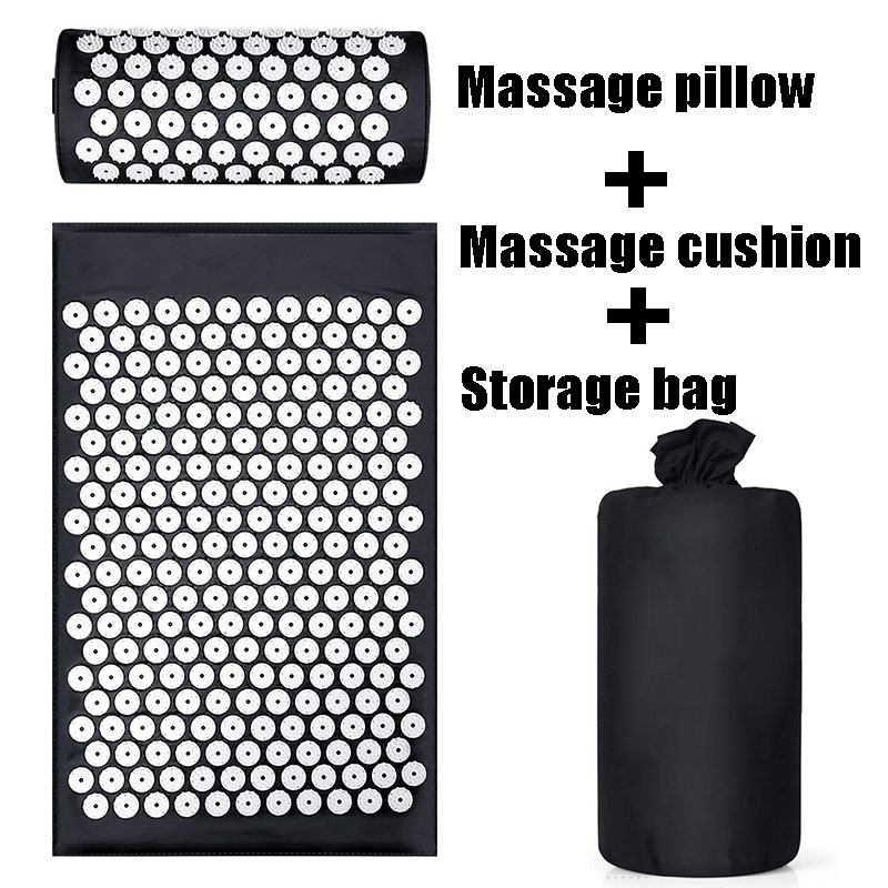 Cushion Shakti Relieve Acupressure Mat Body Pain Acupuncture Spike Yoga Mat with Massage Pillow/Mat Massage & Relaxation