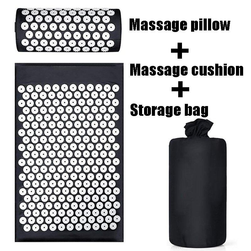 Cojín Shakti Acupressure Mat cuerpo dolor acupuntura Spike Yoga Mat con almohada de masaje/masaje y relajación