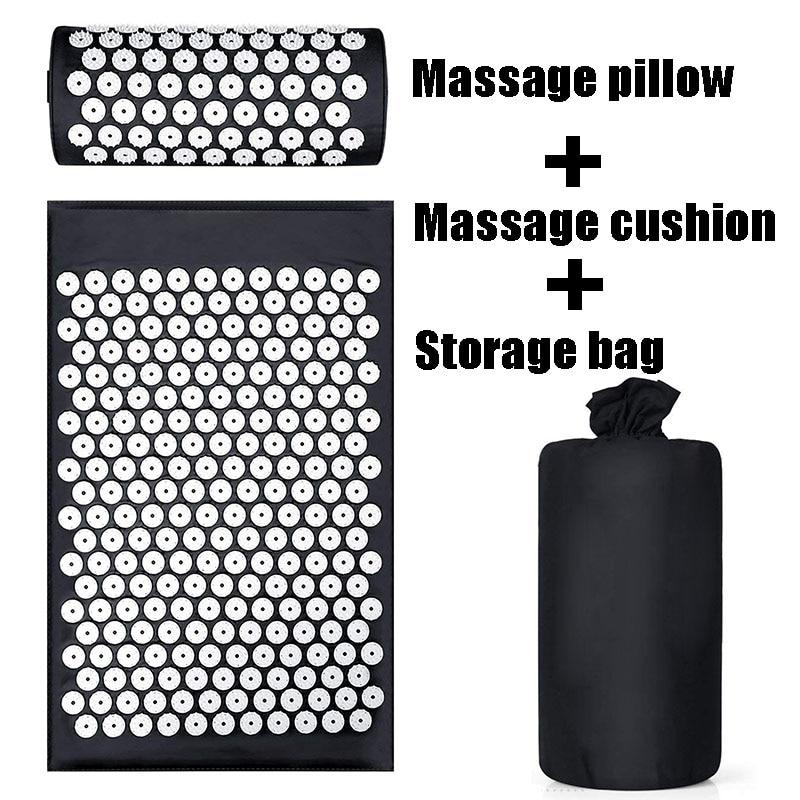 Cojín Shakti alivio acupresión esterilla dolor corporal acupuntura estera de Yoga con almohada de masaje/estera de masaje y relajación