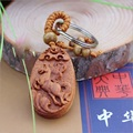 High quality rosewood carved wishful Lucky Horse pendant keychain car keys ornaments wholesale DIY accessories pendant