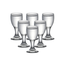 Set of 6 0.3ounce lead free glass shot glass machine made liqueur glasses vodka for drinks 10ml