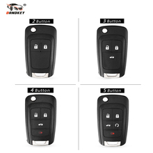DANDKEY 2/3/4/5 Buttons Smart Remote Key Shell Case 2011 2012 2013 For Chevrolet Cruze FOB HU100 Blade