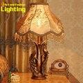 Lámpara de Mesa de Pavo Real Tallado Artes especiales Con Resina Y Hierro Luz para Sala de Estudio dormitorio 8024