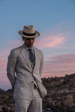 Linen Slim Tuxedo Grey