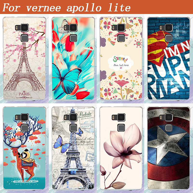 For Vernee Apollo Lite Back case Fashion Arrival 8 Colors Painting plastic Hard PC Cell Phone Case For Vernee Apollo Lite cover