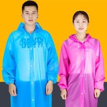 Outdoor Travel Rainwear Transparent Raincoat Women Men Porta