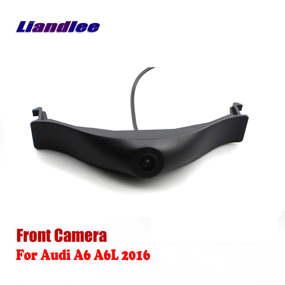Liandlee Car Front View Camera AUTO CAM Logo Embedded For Audi A6 A6L 2016 2017 ( Not Reverse Rear Parking )