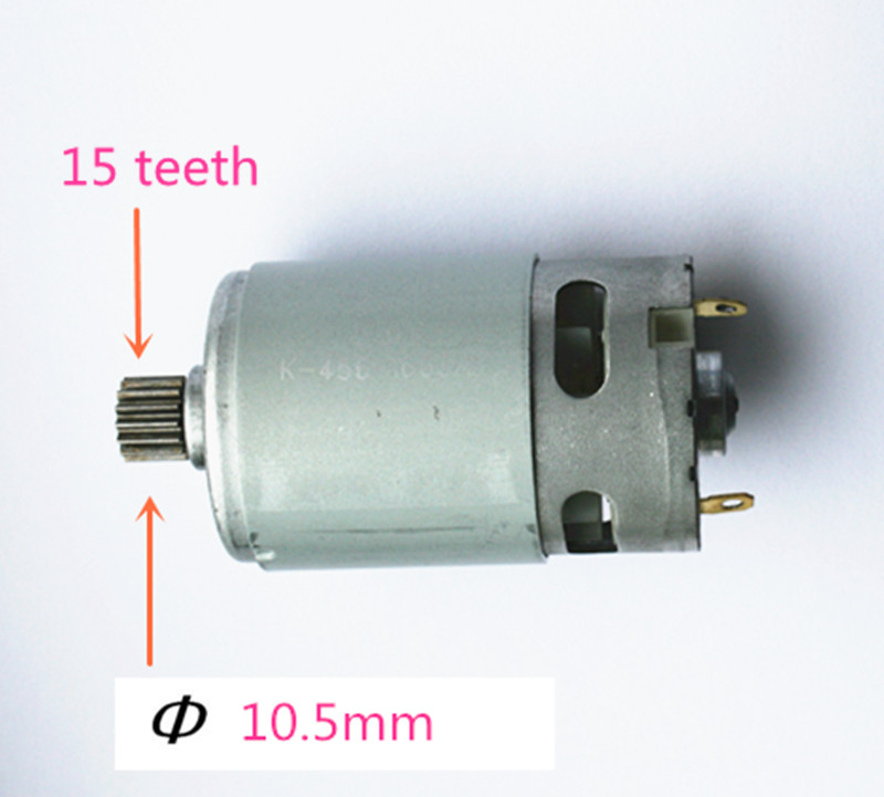 15 Teeth  Motor Replace Parts  Parts Set 10.8V 12V  For  BOSCH TSR1080-2-LI GSR1200-2-LI GSR1080-2-LI  Cordless Drill Driver