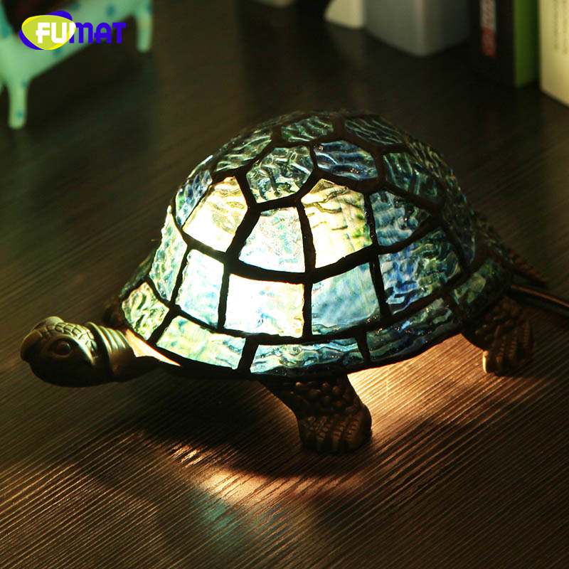 Fumat Bedside Lamp Stained Gl Turtle Light Living Room Home Decor Creative Table Lights Kids Gift Art In Led Lamps From
