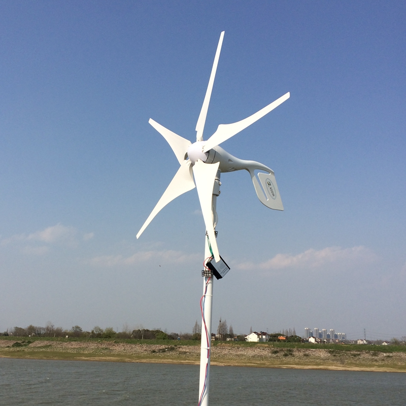 5 Blades 400W 12-24V Wind Turbine Generator With Waterproof Charge Controller Household Use Wind Generator Kits usa stock 880w hybrid kit 400w wind turbine generator