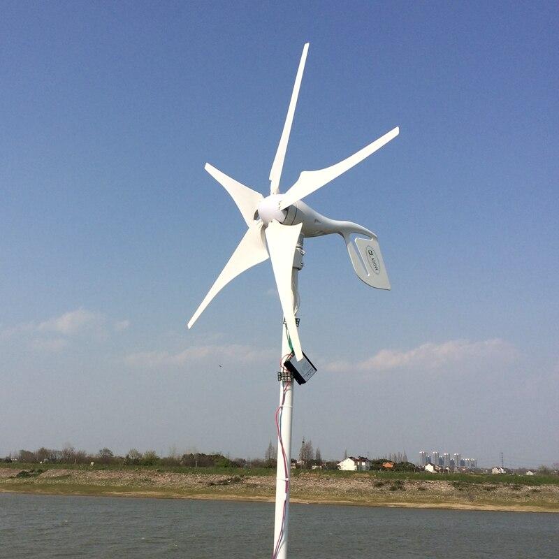 5 лезвий 400 Вт 12-24 в генератор ветровой турбины с водостойким контроллером заряда Ho использовать удерживать использовать комплекты ветроген...