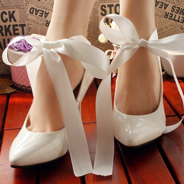 Mujer Tacones Altos Zapatos de dama de honor Blanco Zapatos de La Boda Zapatos de Novia de la mariposa cul-de-lampe Mujeres Bombas mariposa 9 CM Tamaño 41-43