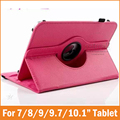 360 Degree Universal 7 7.85 8 9.7 10 inch Tablet PU Leather Case Stand Cover for Prestigio Multipad 4 explay teclast cube Funda