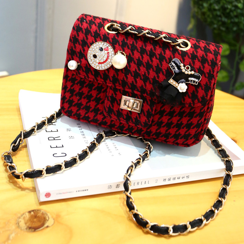 Famous Brand Women Messenger Bags Plaid Chain Strap Shoulder Bag Vintage Mini Flap Bolsas Small Crossbody bag - Hellennew Fashion Factory store