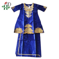 H&D african women outfit suits bazin dashiki clothes for women africa clothing embroidery skirt two piece set jupe africaine