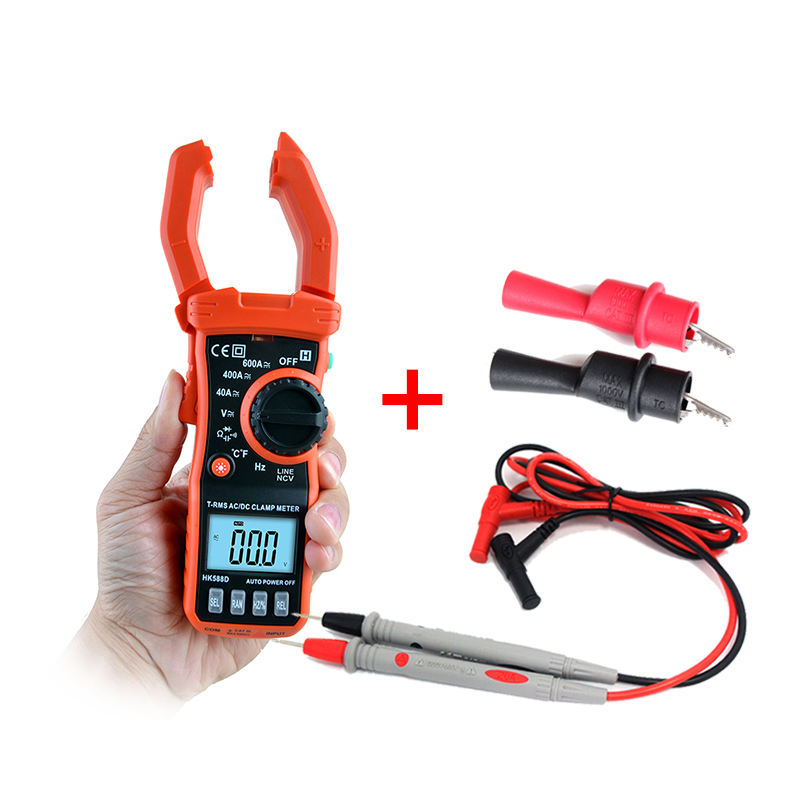Built-in non-contact voltage detector continuity & Diode Voltage Current test Data hold Multifunction LCD backlight multimeter