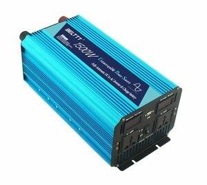 Инвертор солнечной энергии, 12 В, 220 В, ЖК-дисплей, 1500 Вт, непрерывный, 3000 Вт, пиковая чистая Синусоидальная волна, преобразователь постоянного ...