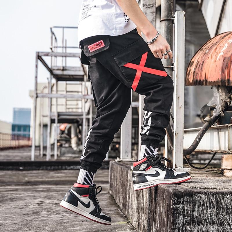 Slim Sweatpants Jogger Street-Style Cotton Casual New-Fashion Men