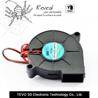 5PCS 3D Printer Parts 50mmx50mmx15mm 5cm 5015 50mm Radial Turbo Blower Fan DC 12V With 30cm