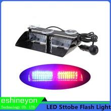 Car Styling 48 W Led Lumière Stroboscopique Signal Flash Warning Lumière Pare-Brise Led D'urgence Lumière Police Pompier Attention Lampe Ambre