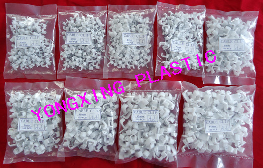 900pcs/bag 4/5/6/7/8/9/10/12/14mm flat nail clips cable clips cable tie nail cable flat 900
