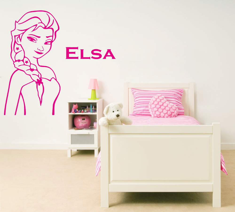 Aliexpress.com : Buy Queen Elsa Picture And Name Wall Stickers For Kids  Room Wall Stickers Vinyl Home Decoration Wall Sticker Wallpaper Home Decor  From ... Part 93
