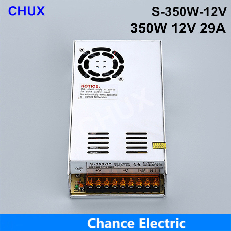 (S-350W-12) Constant voltage AC to DC 350w 12v  switching dc regulated power supply 350w free shipping s 500 12 power supply 12v 500w constant voltage ac to dc 12v 40a dc power unit supply industrial switching led driver