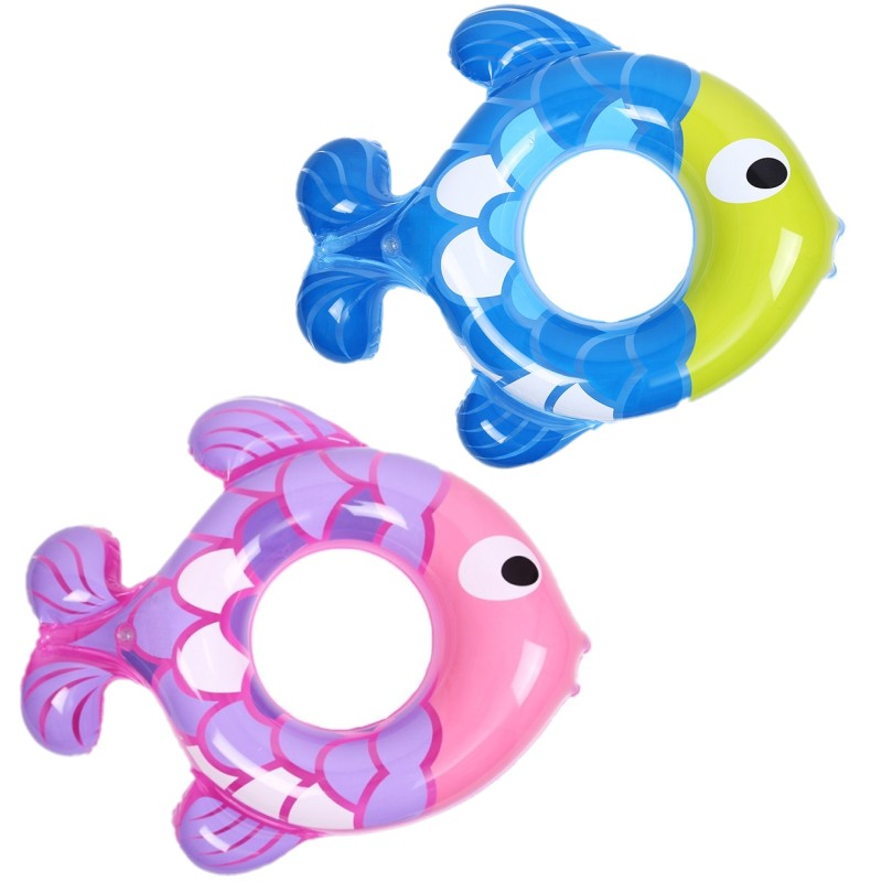 Baby Fish Type Inflatable Rings Summer Lake Pool Swimming Circle Double Swimming Rings Inflatable Life Buoy for Children