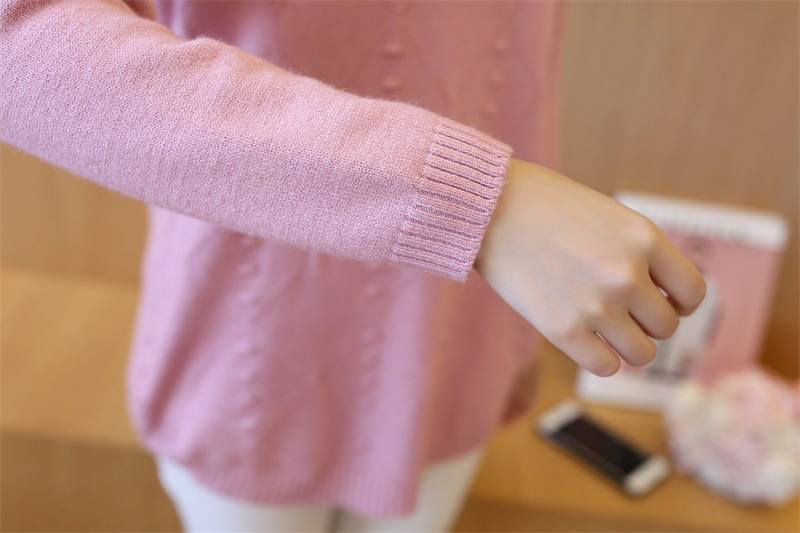 Maternity Clothes Pregnancy Winter Sweaters Cotton Maternity Clothing For Pregnant Women Casual Long Sleeve Solid Sweaters 7910