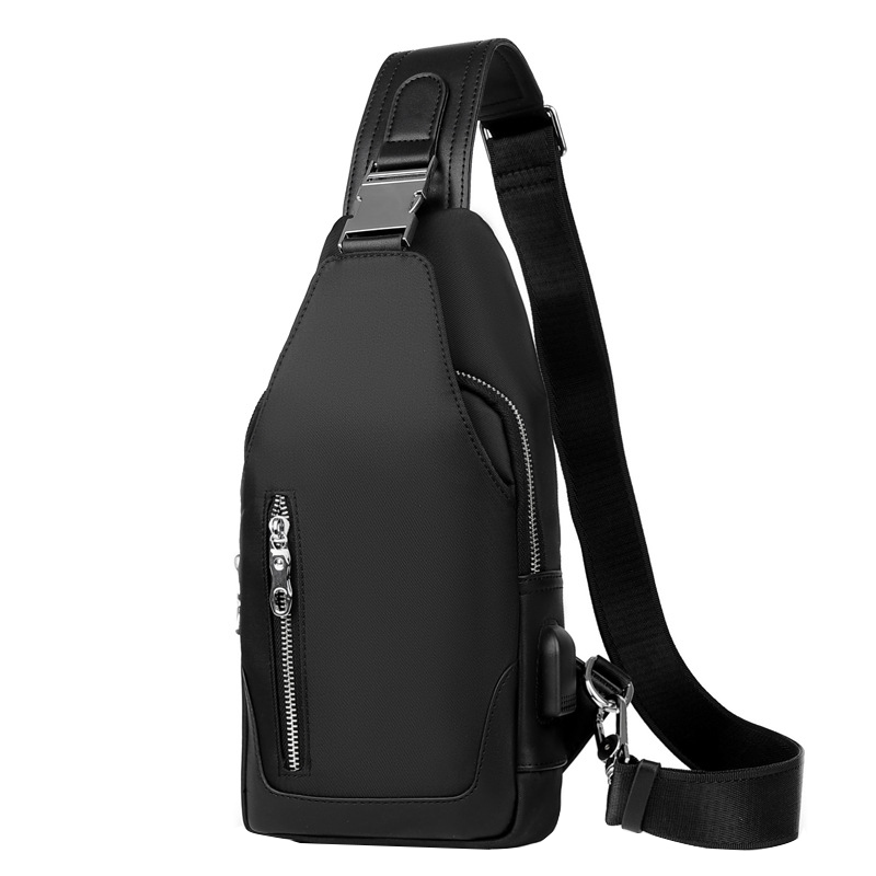 3f0a425256cf Men  s chest bag casual crossbody bag Multifunction shoulder bag Oxford  cloth fashion high quality